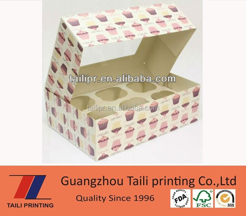 Custom take away cupcake boxes wholesale china