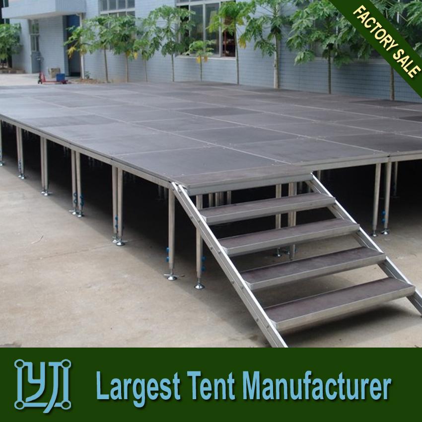 how to build wooden outdoor platform