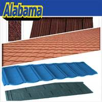 Scientific installation terracotta metal roof tile, red color coated steel roof tile