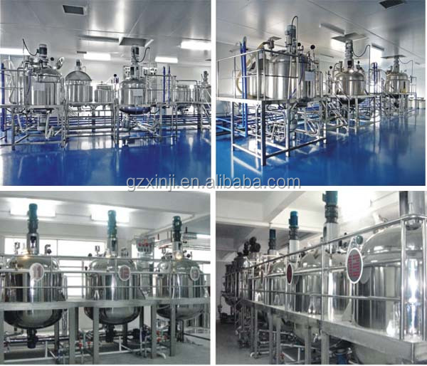 TOP 3 factory heated jacketed Stainless steel mixing machine for liquid soap making machine