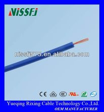AWM1095 22 awg hook up wire/flexible copper conductor pvc insulation electric wire