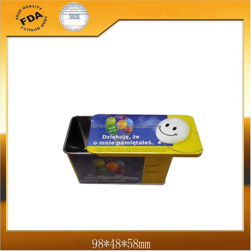 Rectangle Sliding Tin Box