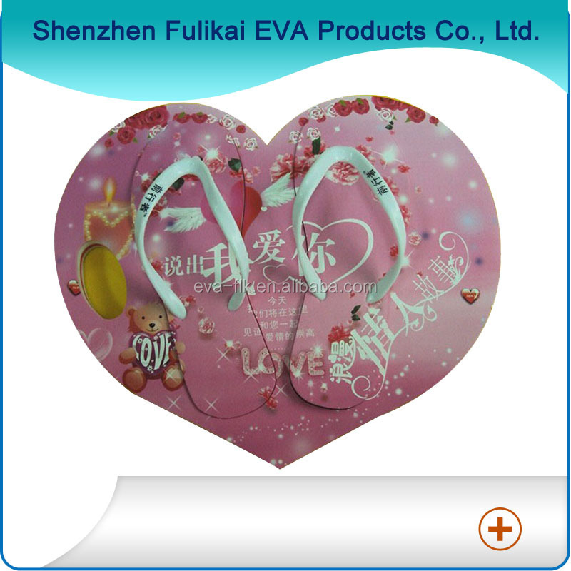 Heart Shape Lovely Soft Women EVA Beach Slipper