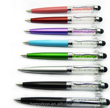 touch stylus crystal bling pen with logo