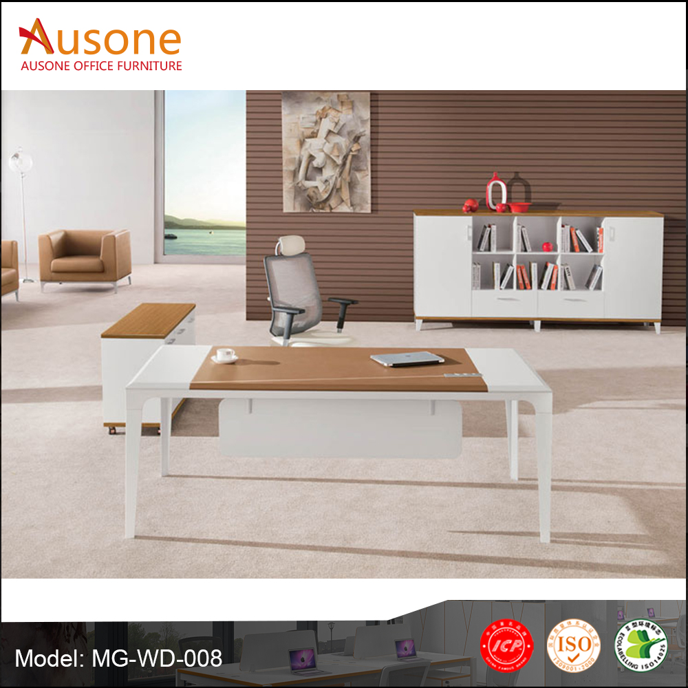 Cheap modern design wood desk china office furniture
