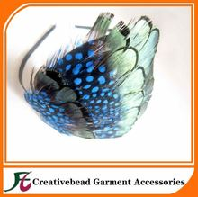 Feather Pad Peacock - Headband Hair Accessories Clips Fascinator Wedding Bridal
