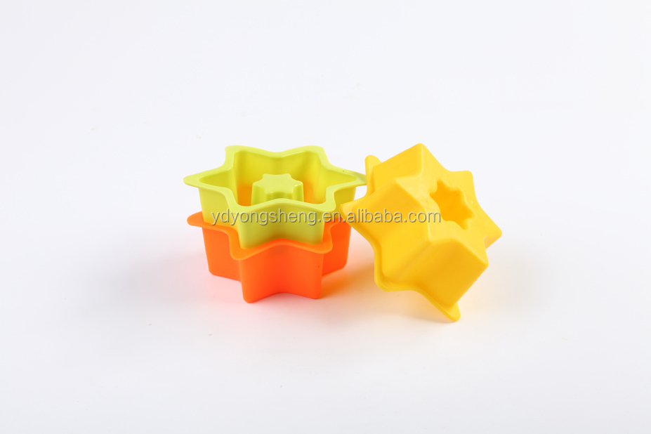 Halloween promotion gift hot sale star shape silicone cake mold