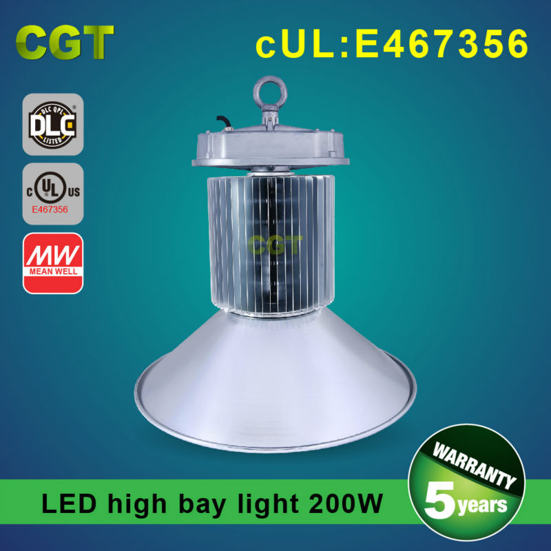 Outdoor High bay Led light 200W UL DLC approved SAMSUNG chip Meanwell driver
