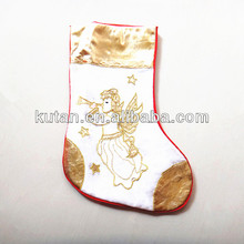 Gold outdoor decoations socks/2013 christmas idea