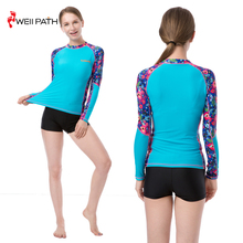 Hot sale long sleeve women's rash guard swimsuit for surfing and swimming