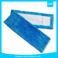 Wholesale blue microfiber coral fleece floor cleaning industrial flat mop
