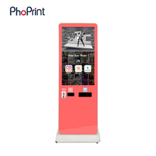 Thermal photo paper for photo booth/photo kiosk/purikura hashtag printing touchs screen kiosk vend vending machines