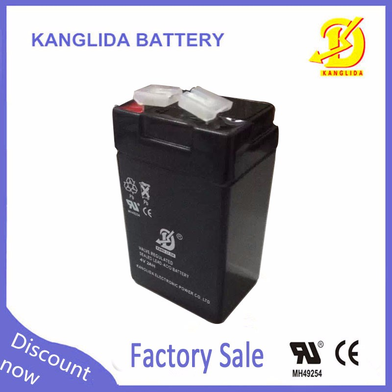 4v 2ah rechargeable sealed lead acid battery for lamp