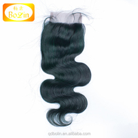 Bolin hair alibaba express free shipping factory price body wave 120% density human hair fashion color lace closure piece