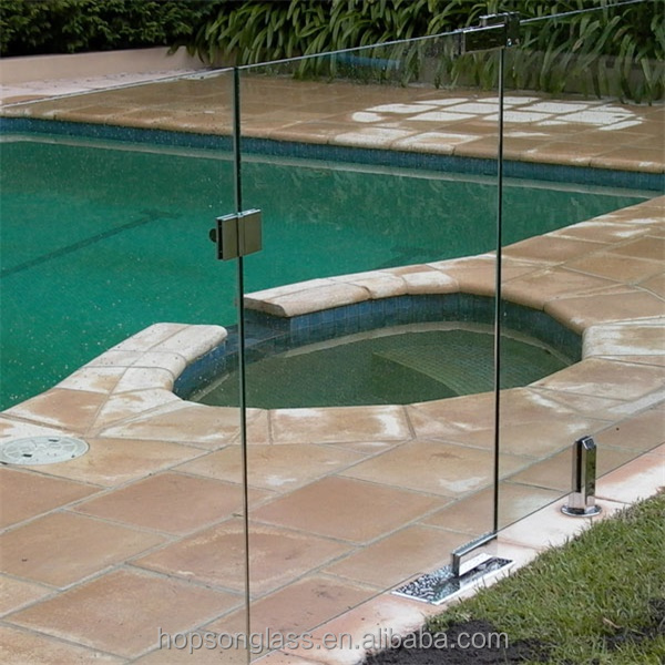 Transparent glass fence 12mm thick tempered glass frameless deck railing panels