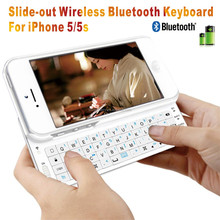 Bluetooth Sliding Keyboard Case for Apple iPhone 5 / iphone 5s bluetooth keyborad