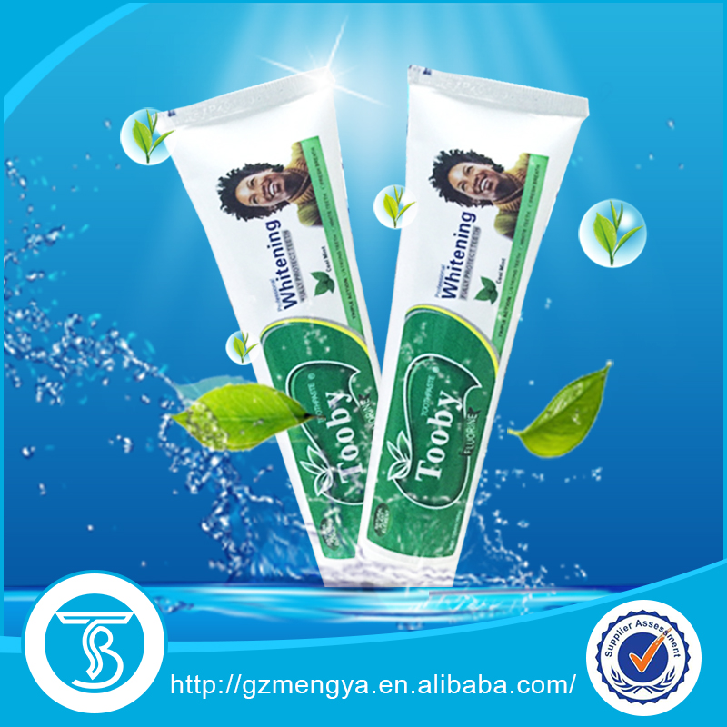 TOOBY Brand teeth whitening bamboo charcoal toothpaste