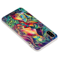 Newest product matt 3D colorful painted creative design shockproof clear TPU mobile phone case for Huawei P10 and P10 lite cover