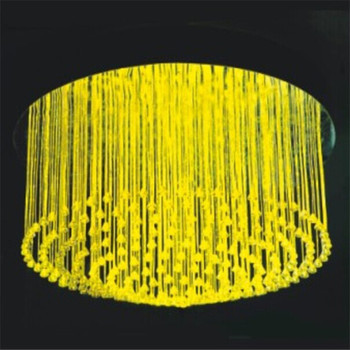 Remote control changing led fiber optic chandelier pendant light