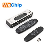 C120 backlit 2.4g air fly mouse for smart tv box Mini Wireless Keyboard C120
