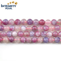 5-6.5mm loose gemstone beads natural plum blossom tourmaline