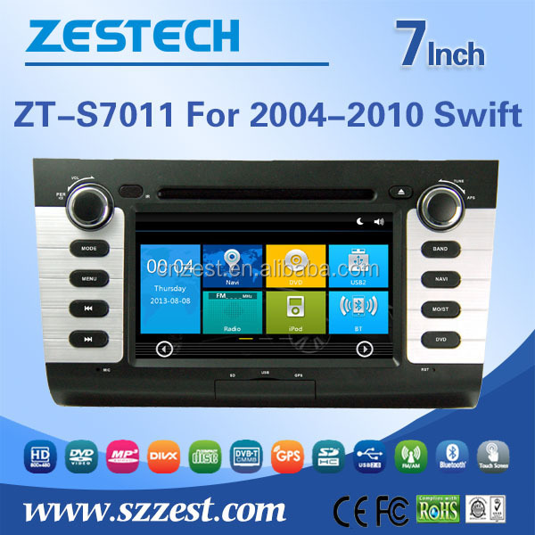 double din car dvd player for SUZUKI SWIFT 2004-2010 2 din car dvd gps with radio bluetooth car dvd gps player