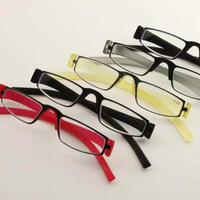 Mini clip nose bridge stainless steel TR reading glasses with case