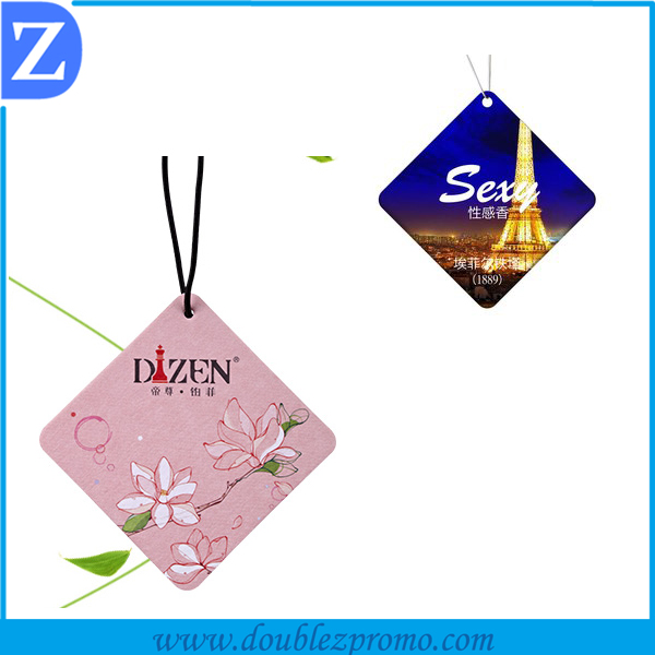 Customized Popular Auto Perfume / Paper Car Air Freshener