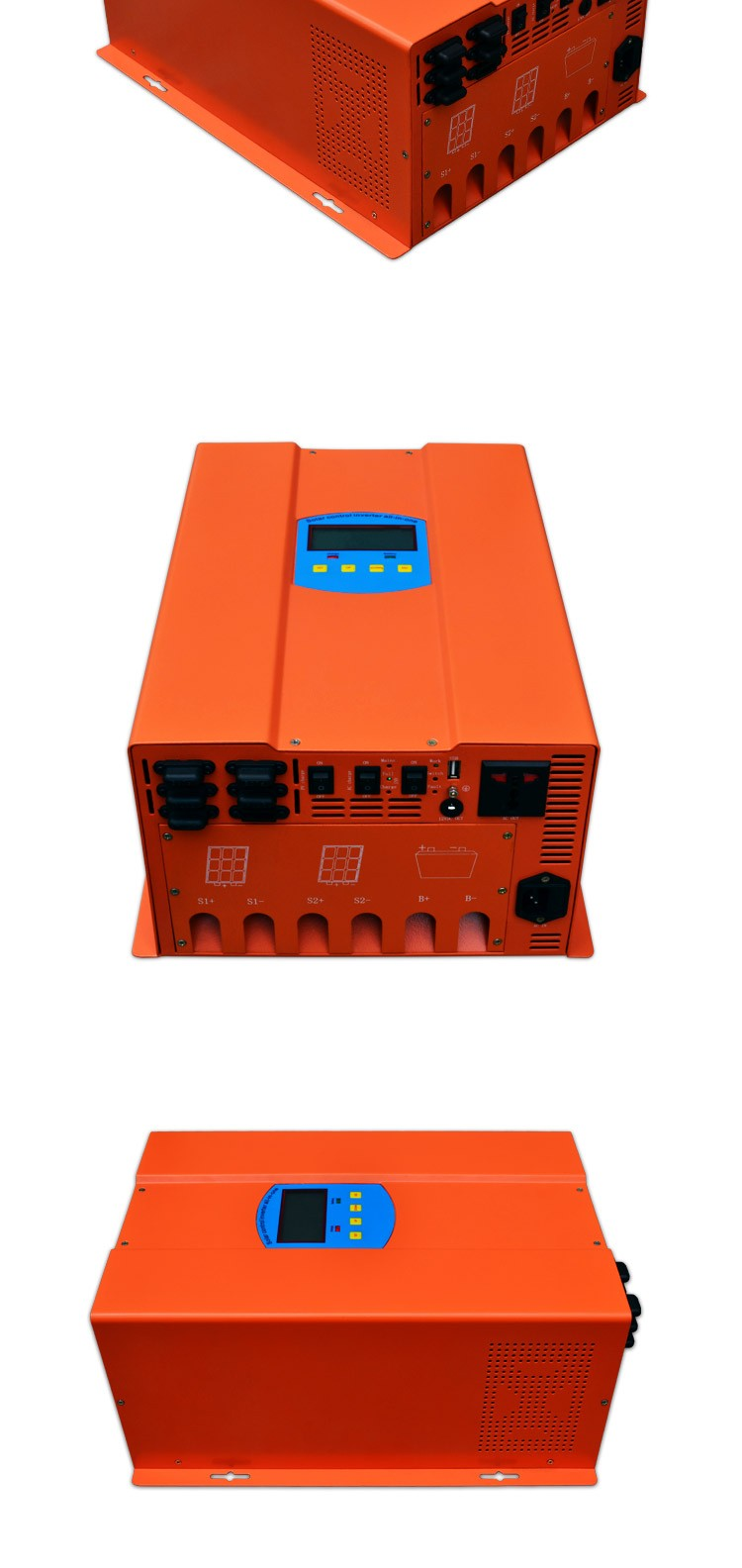 New design 1500W 12V/24V/48V solar inverter with built-in charge controller hybrid fuction solar panels for home
