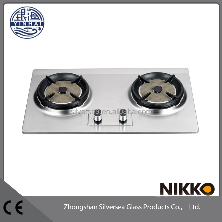 White Outdoor Picnic Portable cassette table gas stove two Number of burner