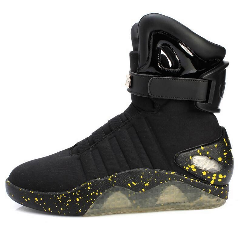 High quality fashion USB ankle shoes led soldier men boots