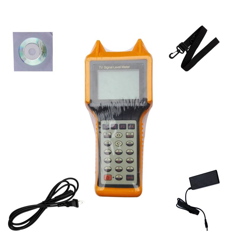 5-870MHz 64 / 128 / 256 QAM Digital Cable TV RF Signal Level Meter with Spectrum MER BER