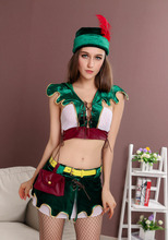 DJ-PZ-210 Adult female green Christmas costume cosplay uniforms nightclubs bars sexy Robin Hood clothes party