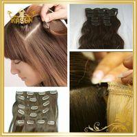 Wholesale hair aliexpress hair cheap virgin hair alligator clip