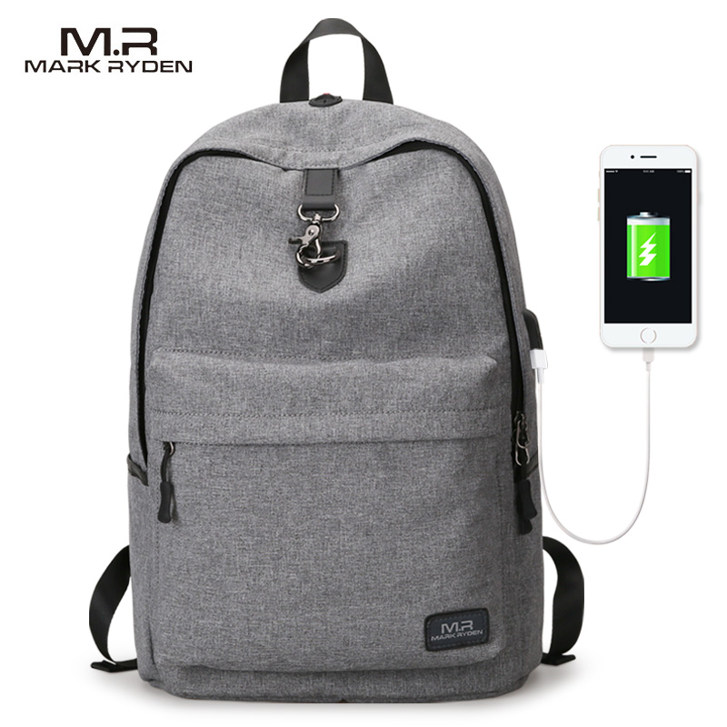 Mark Ryden Wholesale OEM USB Charging Port Bag College Backpack <strong>School</strong> Bags Vintage Retro Backpacks <strong>School</strong> for Girl Boy