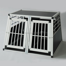 Double door Portable folding dog cage aluminium