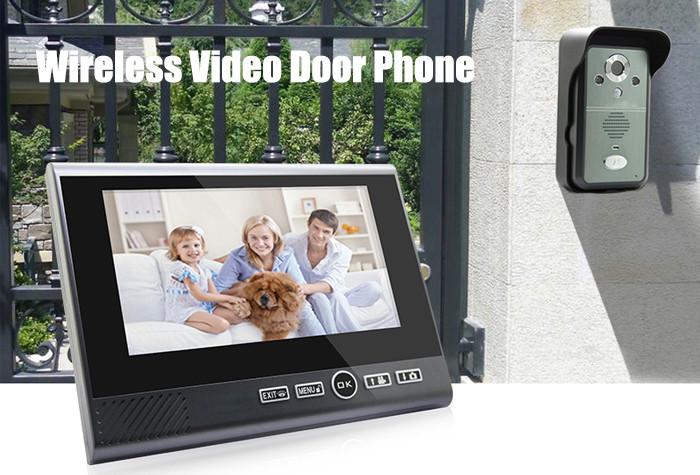 Wireless Video Door Phone 7 Inch Big Display Wireless Video Door bell