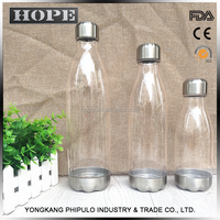 HOPE Bpa free no toxic plastic 100% transparent water bottle bicycle