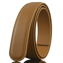 Wholesale Brown Fashion Mens Dress Auto Leather Belt Strap without Buckle