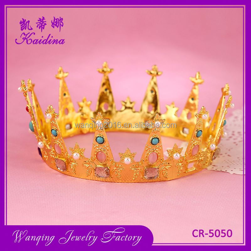 Newest sale multifunction rhinestone metal crown