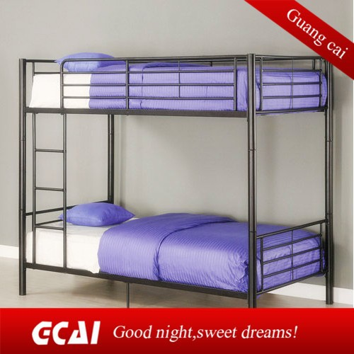 Metal iron bed cheap furniture bedroom double deck bed for Bedroom designs with double deck bed