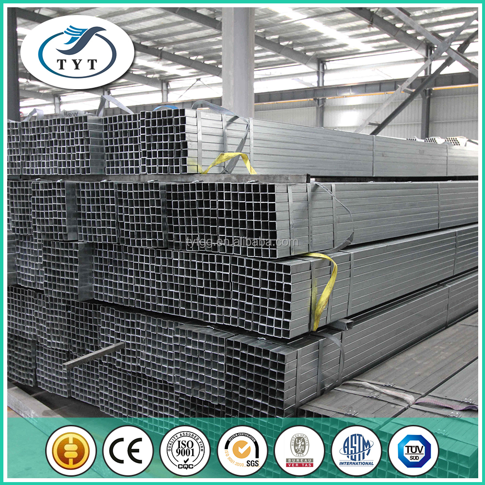 38*38mm galvanized steel tube best for export