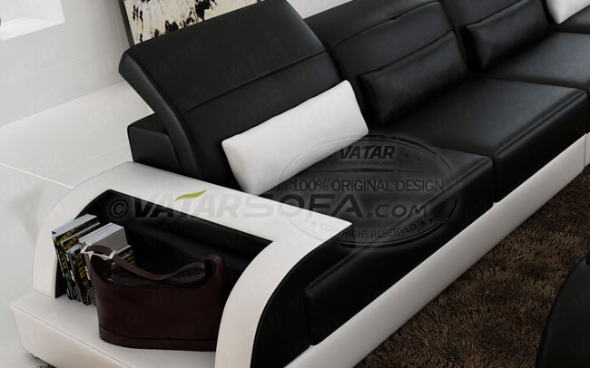 VATAR original design italian leather L shape sofa H2213C