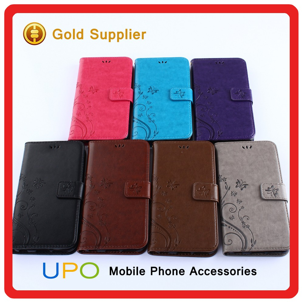 [UPO] New Products Leather Stand Wallet Flip Back Cover Case for iPhone 7 Leather Case With Card Slots