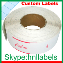 PRINTED AIRLINE BAGGAGE TAGS CUSTOMIZED THERMAL TAGS