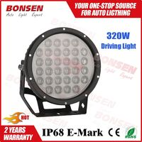 9inch 320W 28800lm LED Driving Light Round Spot High Power LED Work Light for 4x4 Off-road SUV RV Jeep Wrangler 4WD Truck 12V