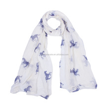 European and American famous horse print scarf Bali yarn women scarf