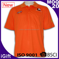BSCI & ISO 9001 certified cotton polyester dry fit customized print polo clothing