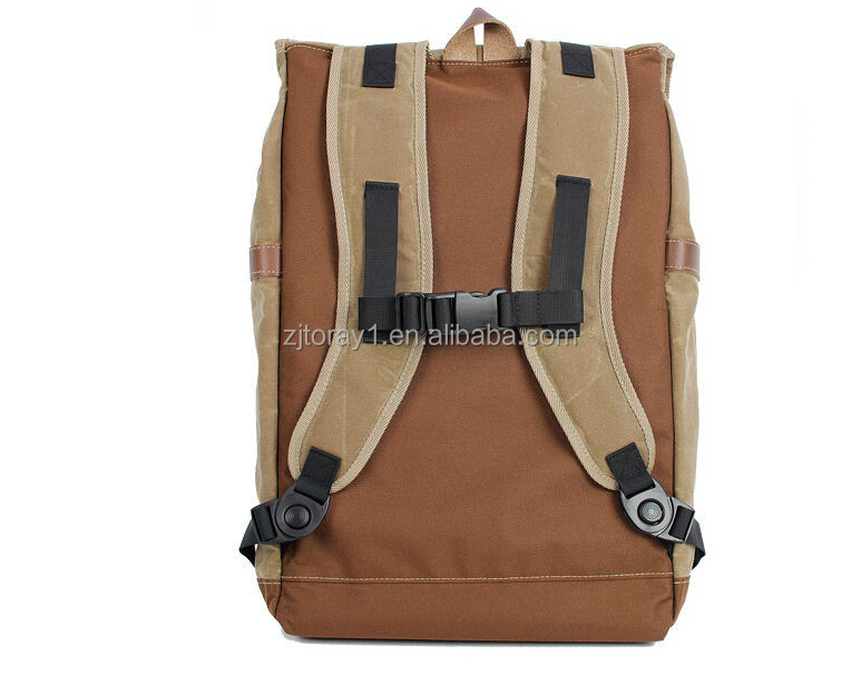 2015 fashion waxed canvas dslr camera backpack