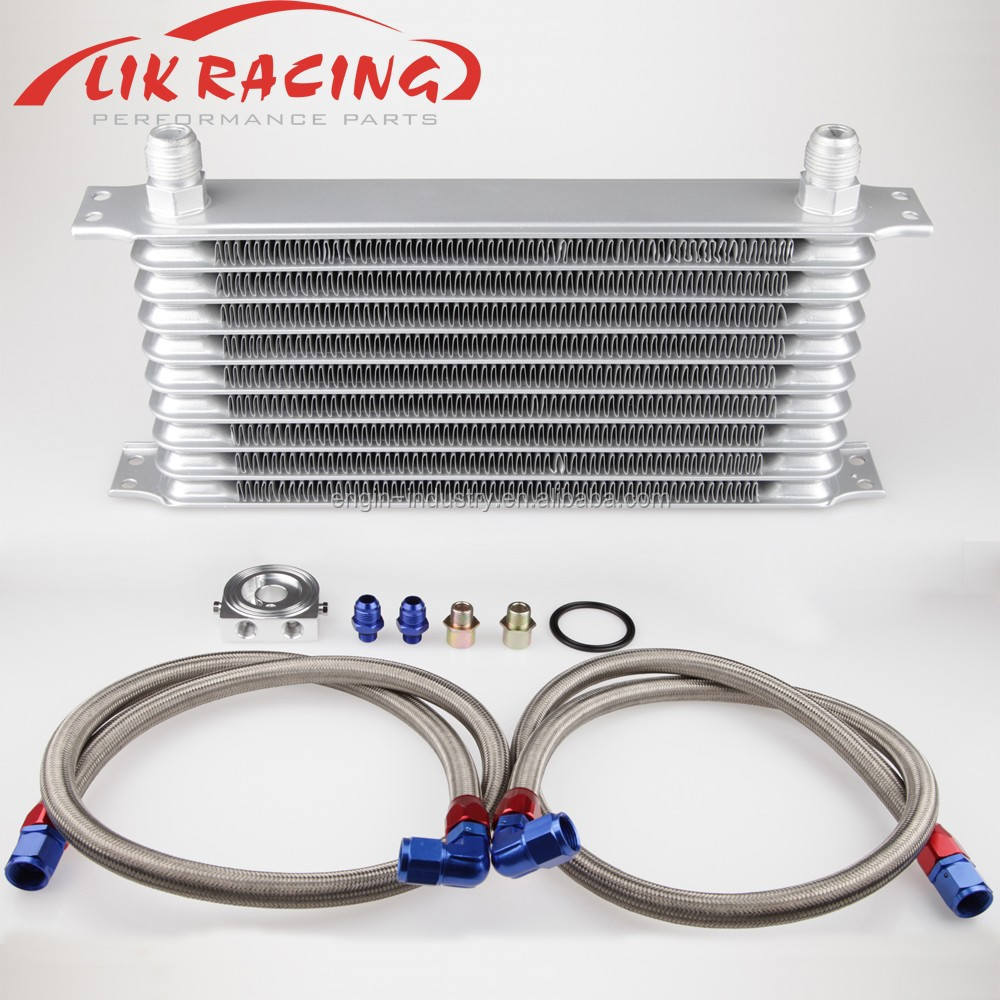 Universal Trust style Engine transmission 10 Row Oil Cooler Kits